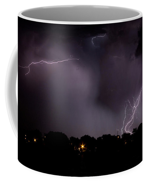 Lightning Coffee Mug featuring the photograph Lake Lightning 4 by James BO Insogna
