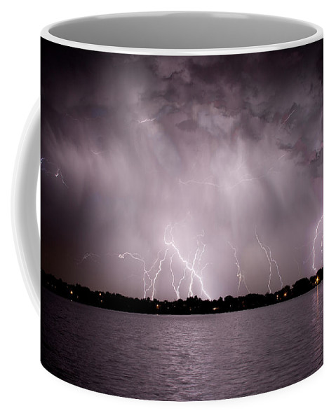 Lightning Coffee Mug featuring the photograph Lake Lightning by James BO Insogna
