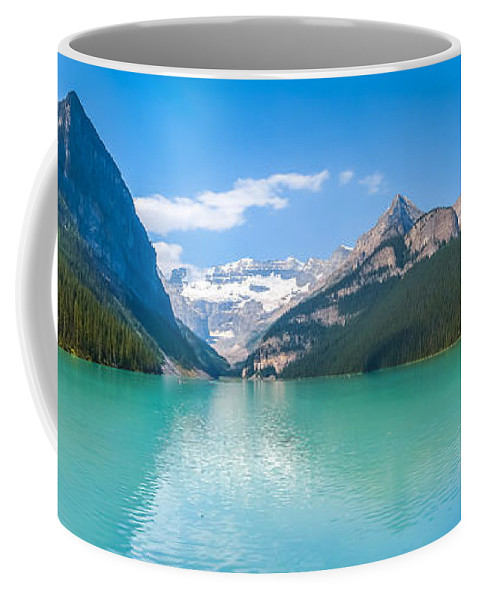 Alberta Coffee Mug featuring the photograph Lake Louise Mountain Lake by JR Photography