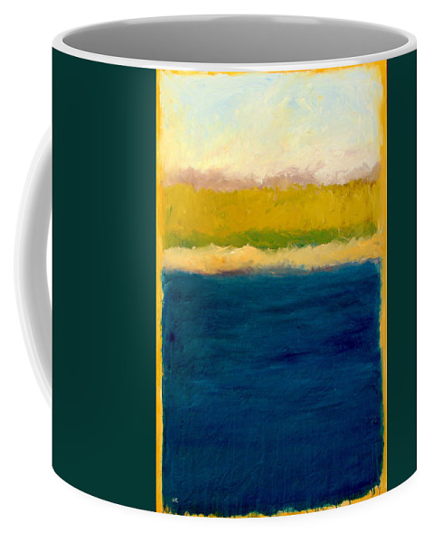 Dunes Coffee Mug featuring the painting Lake Michigan Beach Abstracted by Michelle Calkins
