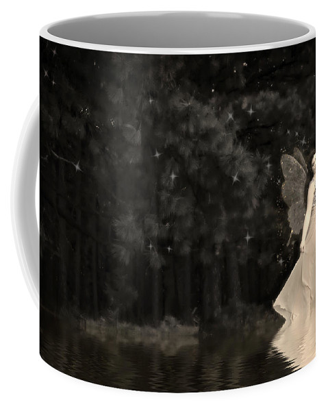 Lake Nymph Coffee Mug featuring the photograph Lake Nymph by Wes and Dotty Weber