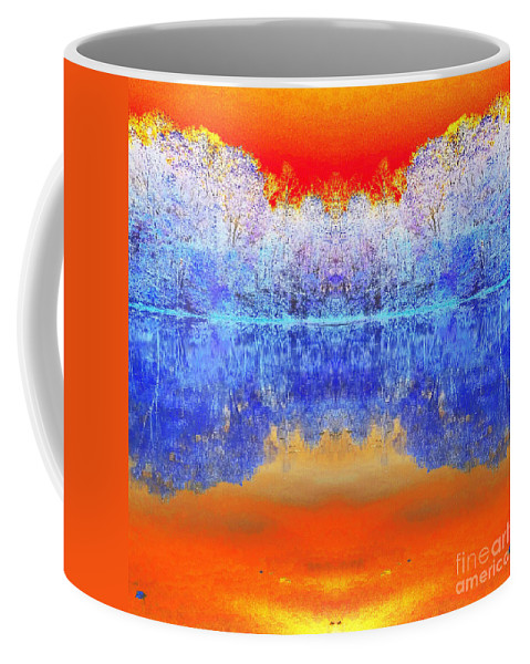 Colorful Coffee Mug featuring the photograph Lake Of Many Colors by Scott D Van Osdol