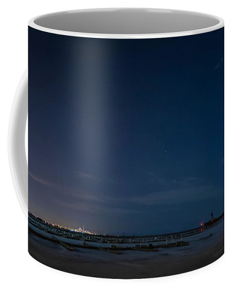 Steve Harrington Coffee Mug featuring the photograph Lake Ontario Shoreline - A Winter Night by Steve Harrington