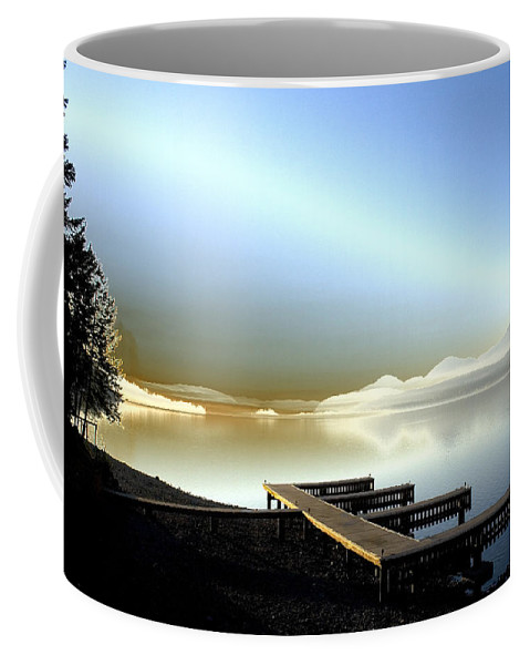 Landscape Coffee Mug featuring the photograph Lake Pend D'oreille Fantasy by Lee Santa
