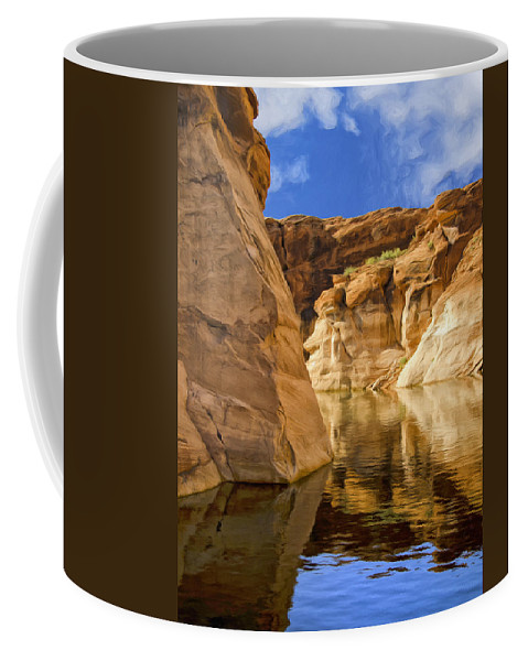 Morning Coffee Mug featuring the painting Lake Powell Stillness by Dominic Piperata