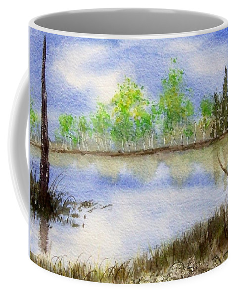Water Coffee Mug featuring the painting Lake Scene by Jamie Frier
