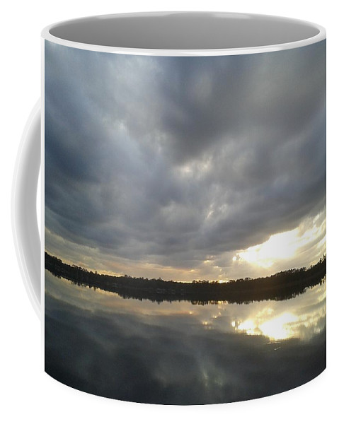 Sunset Coffee Mug featuring the photograph Lake Sunset by Dan Emberton