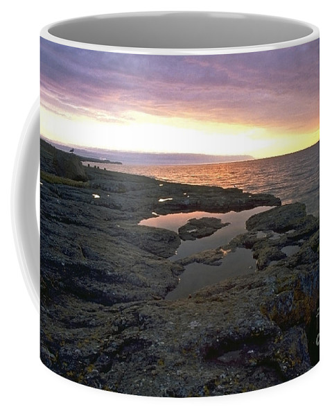 Lake Superior Coffee Mug featuring the photograph Lake Superior Sunrise by Sven Brogren
