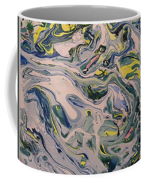 Coffee Mug featuring the painting Lake Swirl 4 by Jan Pellizzer
