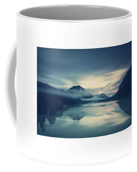 Bavaria Coffee Mug featuring the photograph Lake Sylvenstein In The Evening by Franz Sussbauer