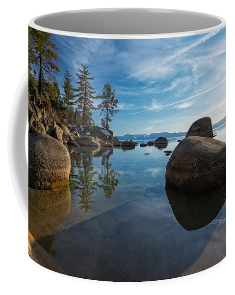 Landscape Coffee Mug featuring the photograph Lake Tahoe Nevada by Dianne Phelps