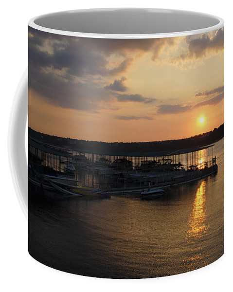 Sunset Coffee Mug featuring the photograph Lake Travis Sunset Over Carlos N Charlies by David Thompson