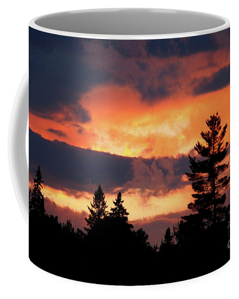 Sunset Coffee Mug featuring the photograph Lake Umbagog National Wildlife Refuge Sunset by Neal Eslinger