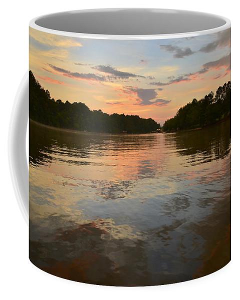 Lake Wedowee Coffee Mug featuring the photograph Lake Wedowee Alabama At Sunset by Mountains to the Sea Photo