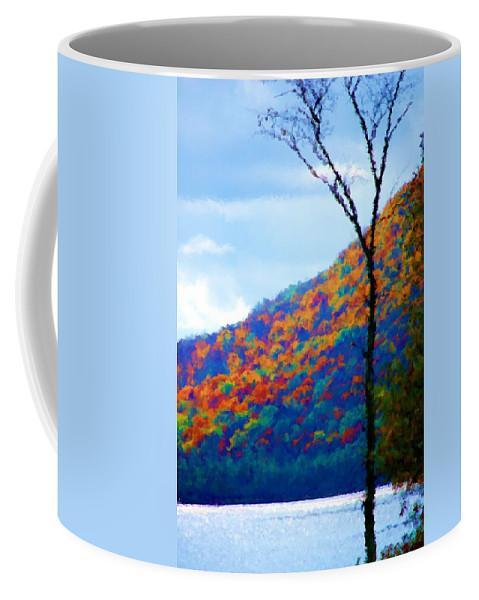 Digital Photograph Coffee Mug featuring the photograph Lakeside by David Lane