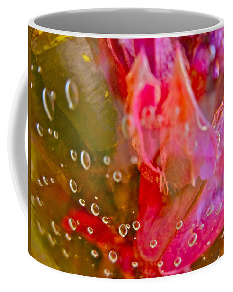 Abstract Coffee Mug featuring the photograph Lakeside Garden by Gwyn Newcombe