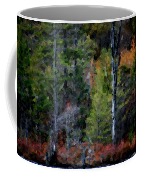 Digital Photograph Coffee Mug featuring the photograph Lakeside In The Autumn by David Lane