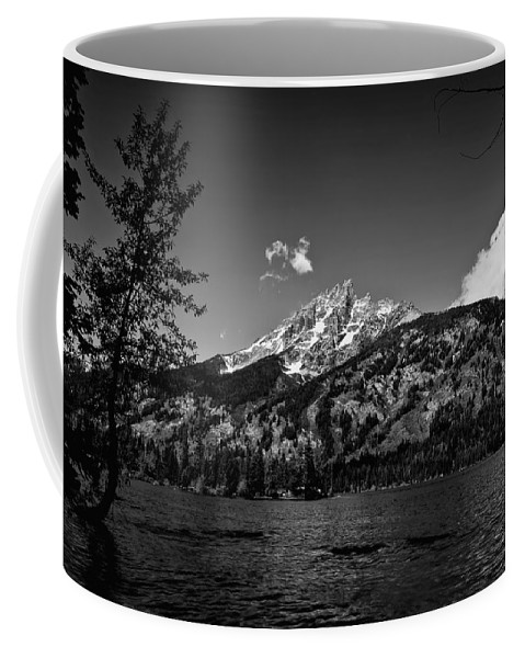 Black And White Coffee Mug featuring the photograph Lakeside by John K Sampson