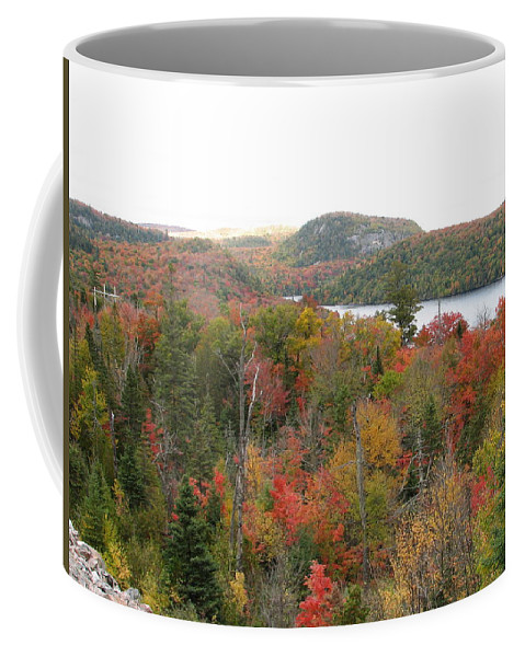 Fall Coffee Mug featuring the photograph Lakeside by Kelly Mezzapelle