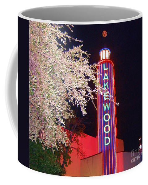 Theater Coffee Mug featuring the photograph Lakewood Theater by Debbi Granruth