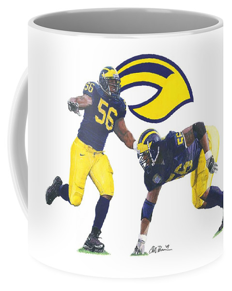 Lamarr Woodley Coffee Mug featuring the mixed media Lamarr Woodley by Chris Brown
