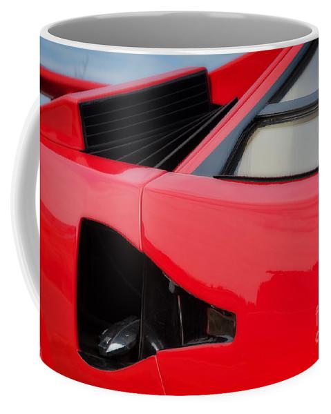 Lamborghini Coffee Mug featuring the photograph Lamborghini Countach by Carl Shellis