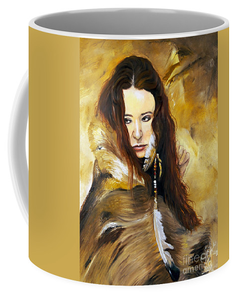 Southwest Art Coffee Mug featuring the painting Lament by J W Baker