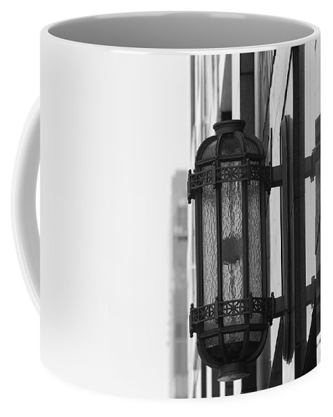 Architecture Coffee Mug featuring the photograph Lamp On The Wall by Rob Hans