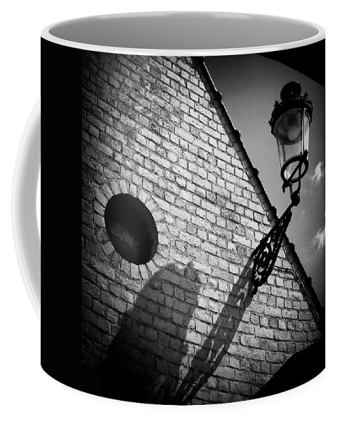Lamp Coffee Mug featuring the photograph Lamp With Shadow by Dave Bowman