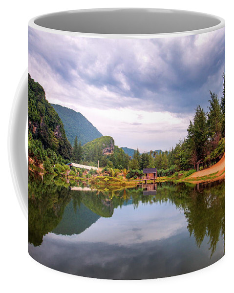 Lake Coffee Mug featuring the photograph Lampuuk Lake by Budi Nur Mukmin