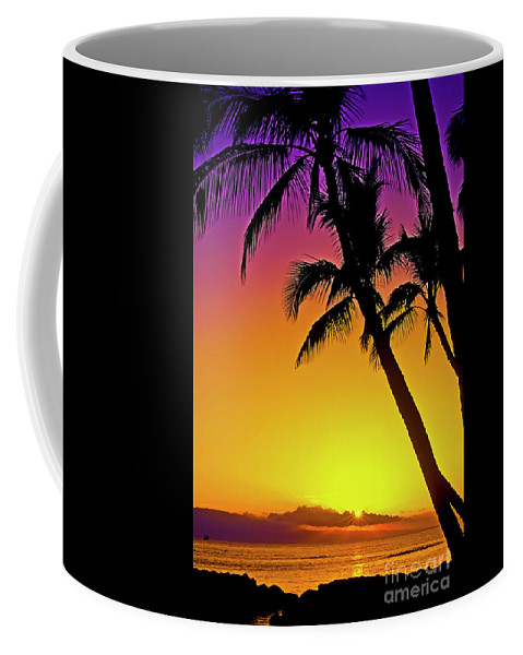 Sunset Coffee Mug featuring the photograph Lanai Sunset II Maui Hawaii by Jim Cazel
