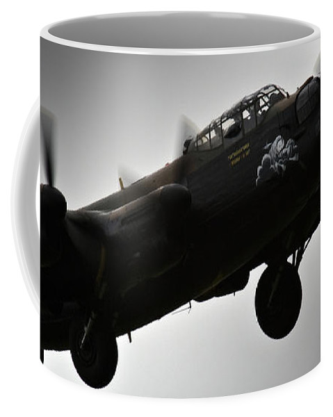 Aircraft Coffee Mug featuring the photograph Lancaster Raf by Angel Ciesniarska