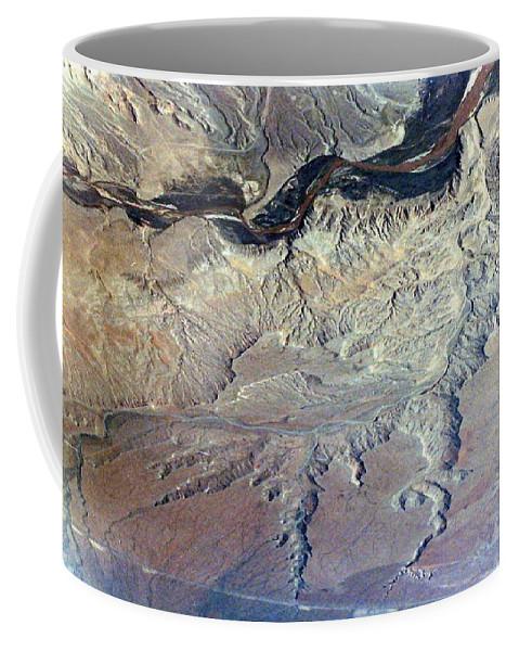 Landscape Coffee Mug featuring the photograph Land Below by Deborah Crew-Johnson