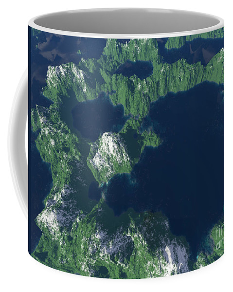 Craters Coffee Mug featuring the digital art Land Of A Thousand Lakes by Gaspar Avila
