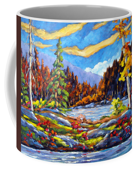 Art For Sale Coffee Mug featuring the painting Land Of Lakes by Richard T Pranke