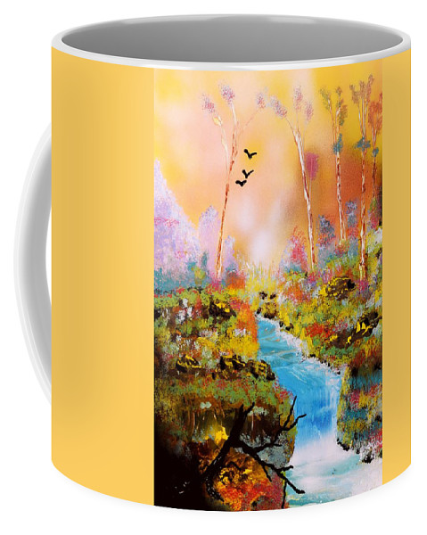 Fantasy Coffee Mug featuring the painting Land Of Oz by Nandor Molnar