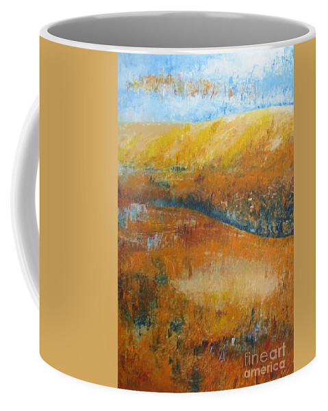 Landscape Coffee Mug featuring the painting Land Of Richness by Stella Velka