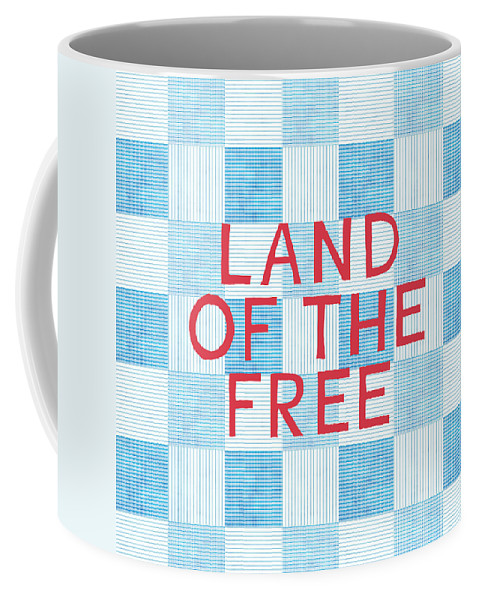 Land Of The Free Coffee Mug featuring the painting Land Of The Free by Linda Woods