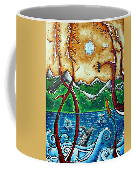 Art Coffee Mug featuring the painting Land Of The Free Original Madart Painting by Megan Duncanson