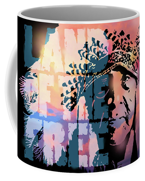 Native American Coffee Mug featuring the painting Land Of The Free by Paul Sachtleben
