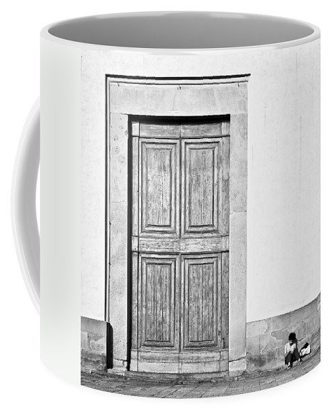 Door Coffee Mug featuring the photograph Land Of The Giants by Dave Bowman