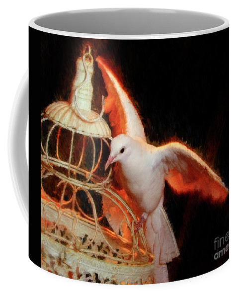 Dove Coffee Mug featuring the photograph Landing Home by Blake Richards