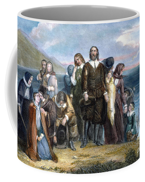 1620 Coffee Mug featuring the photograph Landing Of Pilgrims, 1620 by Granger
