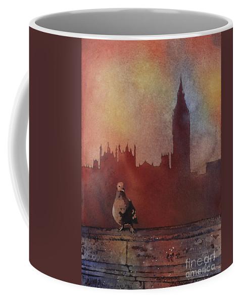 City Coffee Mug featuring the painting Landing Place- London by Ryan Fox