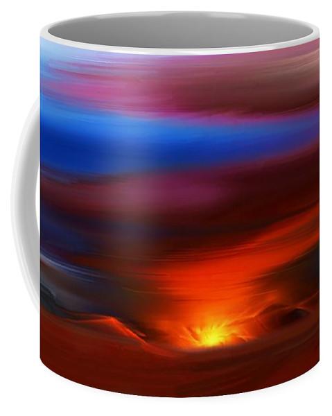 Landscape Coffee Mug featuring the digital art Landscape 081010 by David Lane