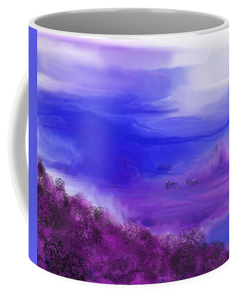 Fine Art Coffee Mug featuring the digital art Landscape 081610 by David Lane