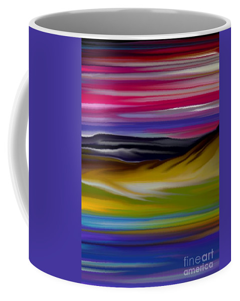 Digital Fantasy Painting Coffee Mug featuring the digital art Landscape 7-11-09 by David Lane