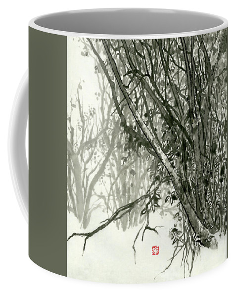 Huangshan Coffee Mug featuring the painting Landscape - 78 by River Han