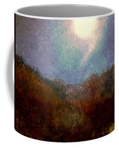 Abstract Digital Painting Coffee Mug featuring the digital art Landscape 8-27-09 by David Lane