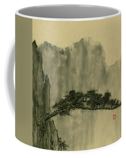 Huangshan Coffee Mug featuring the painting Landscape - 86 by River Han